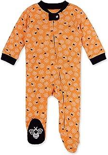 Burt's Bees 男婴*和玩耍睡衣,* *棉连体连身衣,前拉链睡衣