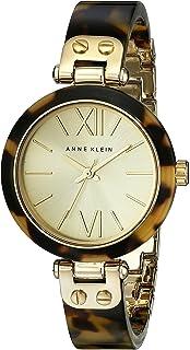 Anne Klein 10 / 9652CHTO 女士龟甲树脂手链手表,金色