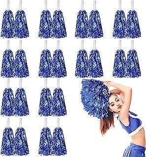 DILIBRA 24 件金属啦啦队球儿童球啦啦队啦啦啦队带指挥把手的啦啦啦队手花,适合成人团队精神运动游戏舞蹈派对