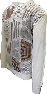 STACY ADAMS 男式毛衣,蜂巢提花设计
