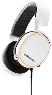SteelSeries Arctis 5 RGB 照明游戏耳机 白色