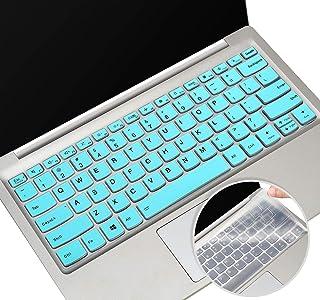 2 件装键盘保护套适用于 2020 Lenovo 联想 IdeaPad 5 14 英寸,Lenovo 联想 Flex 5 14 英寸二合一笔记本电脑,Lenovo 联想 Flex 5 键盘膜 14 英寸笔记本电脑配件(薄荷+透明)