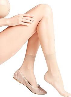FALKE 女式 Seidenglatt 15 DEN 脚链 – 透明、亮色、多种颜色,英国尺码 2.5-8(欧码 35-42),1 对 – 透明、敏感的上带带来*佳的舒适性