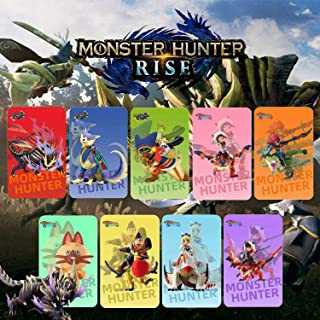 9 件 NFC 标签卡适用于 Monster Hunter Rise 包括:Palamute、Palico、Magnamalo,适用于 Switch Lite 兼容 Switch