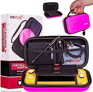 EVORETRO 便携便携便携旅行手提包适用于 Nintendo Switch Lite 粉红色