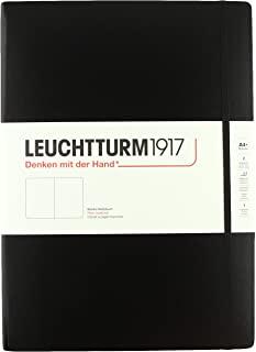 LEUCHTTURM1917 灯塔大开轻薄无格笔记本黑色硬封皮(A4)