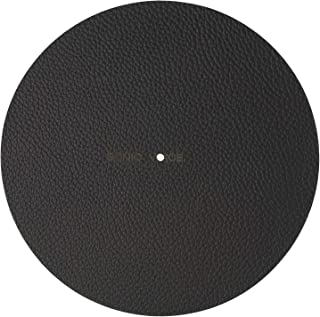Sonic Voice黑色唱片垫由填充真皮制成,减震效果佳