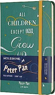 Moleskine 彼得潘 横线印度天绿色硬皮笔记本(口袋型 A6)