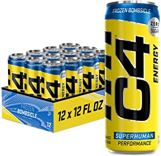 Cellucor C4 On The Go 零糖预锻炼饮料 12 12oz Cans (Carbonated) 9.9