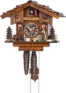 咕咕钟 黑森林房屋款式带森林风景和会动的猎人