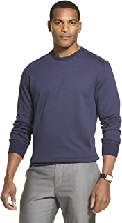 Van Heusen 男式长袖弹性羊毛拼色圆领套头衫 皇家*蓝 Medium