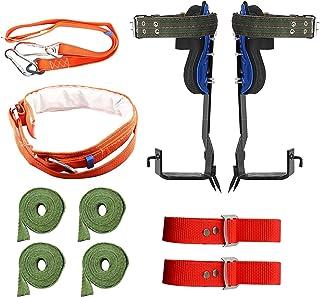TWSOUL 树钉套装 2 个齿轮带**带,304 不锈钢树木攀岩工具*防滑腰带,适用于攀岩、采摘水果、室内攀岩和户外运动