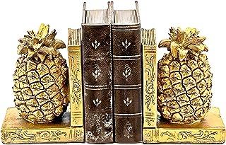 Bellaa 24162 菠萝书架金色书架装饰 17.78 厘米