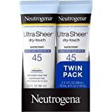Neutrogena 露得清 超透明抗干性非油腻防晒乳液,带SPF 45,符合TSA的旅行装规格,容量为88毫升,3盎司…