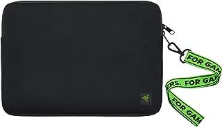 Razer 雷蛇 13 英寸(约 33.0 厘米)氯丁橡胶笔记本电脑套,防刮防水 - 填充内部衬里 - 无障碍魔术贴 - 翻转鼠标垫 - 经典黑色 (RC21-01440100-R3M1)