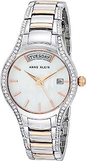 Anne Klein 安妮克莱因 女士施华洛世奇水晶点缀日/日期功能双色手链手表,AK/3715MPRT