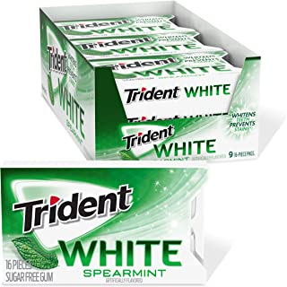 Trident White 留兰香无糖口香糖 - 9件装 (共144块)