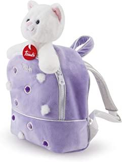 Trudi 29719 猫背包 紫丁香毛绒背包 白色 S 码
