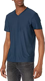 Perry Ellis 男式短袖多层斜纹 V 领 T 恤,油墨,XL 码
