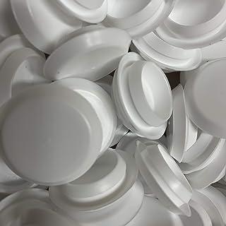AMZ 夹子和紧固件 50 3/4 英寸(约 14.4 厘米)白色塑料齐平型孔塞,1 英寸(约 2.5 厘米)头