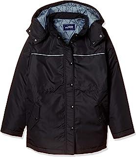 [蜻蜓学生服] 蜻蜓学生服 轻巧温暖的尼龙制 风衣大衣 深蓝 女款 T-22-2