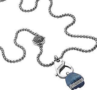 Diesel 迪塞 男士项链 带吊坠 & 吊坠 不锈钢 DX1178040