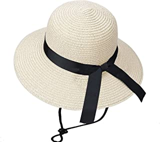 女孩毛绒草太阳帽夏季沙滩帽带蝴蝶结