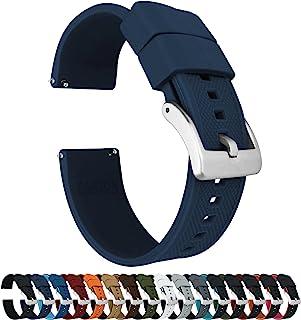 Barton Elite 硅胶表带 - 快速释放 - 选择颜色 - 18 毫米、19 毫米、20 毫米、21 毫米、22 毫米、23 毫米和 24 毫米表带