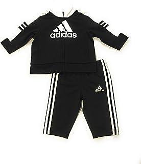 adidas 阿迪达斯 男婴运动服 黑色/白色 3 个月