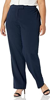 Anne Klein 女士 Size Plus Seersucker 修身长裤