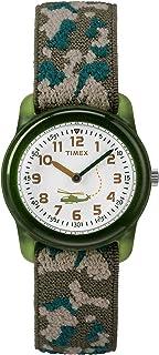 Timex 天美时 男孩 Time Machines 模拟弹性织物表带手表