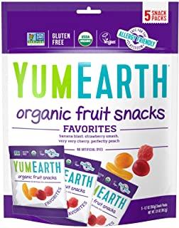 YumEarth Organic 水果零食 5袋 净重3.5盎司/约99.22克(包装可能有所不同)