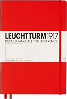 Leuchtturm1917 大开经典 会议记录本 336404(A4 +,虚线,精装),233页,红色