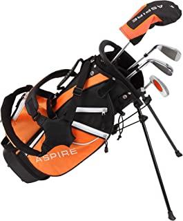 Aspire Junior Plus 全套高尔夫球杆套装,适合儿童 - 5 岁人群男孩和女孩 - 右手,真正的女孩青少年高尔夫球包,儿童高尔夫球杆套装