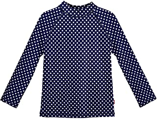 City Threads LS 女童*服游泳衣 T 恤 UPF50+ 海滩泳池*,夏季乐趣,*蓝白色波尔卡多,10