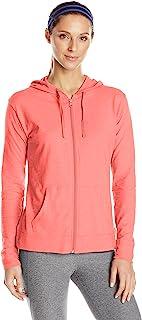 Hanes 女式针织全拉链连帽衫 Briny Pink X-Large