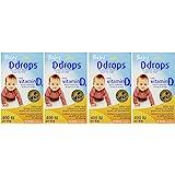 Ddrops Baby 400 Iu 90 Drops 液体滴剂 ,0.08 液体盎司,2.5毫升(4 瓶)