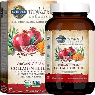Garden of Life 素食胶原蛋白,Mykind Organics 植物胶原蛋白补充剂,适合美丽的秀发、皮肤和甲部,60 片,素食胶原蛋白支持补充剂