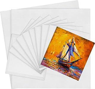 Elcoho 12 件装帆布板艺术家帆布板多面板帆布板创意空白绘画板油画包空白画布板板板用于绘画