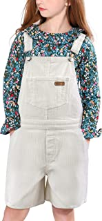 maoo garden 女童牛仔围兜工装裤轻质连身衣棉质水洗牛仔裤可调节肩带