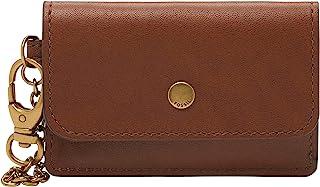 Fossil 女式 Valerie 皮革卡包钱包带钥匙扣夹