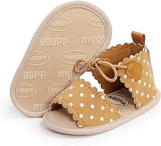 Sawimlgy 婴儿男孩女孩夏季连衣裙凉鞋婴儿礼品鞋软底透气学步鞋新生儿鞋