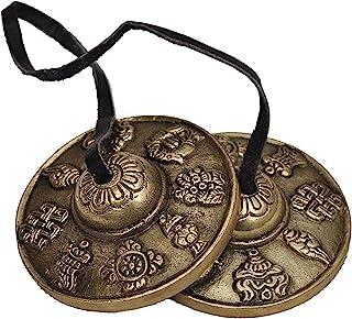 Tingsha 西藏贝尔(铃声)佛像幸运符号(中号)