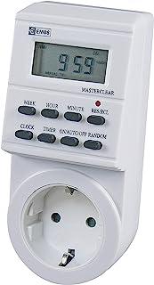EMOS P5521 数字定时器插座 Schuko 8 个程序 儿童保护 电池备份 白色 9 × 9 × 21