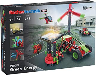 fischertechnik 实验箱 *能量主题 可再生能量 通过太阳能、风力和水力 带 14 种型号适合 9 岁以上儿童