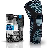 PowerLix 压缩护膝 - 男女*佳护膝 - 跑步、交叉健身、篮球、举重、健身、锻炼、运动等。 - 查看*佳尺寸表