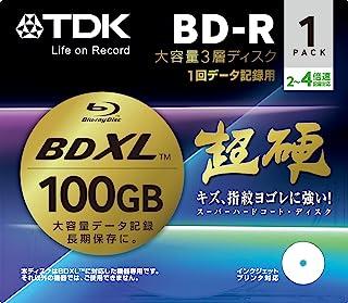 TDK 蓝光 BD-R 磁盘用于电脑数据 - 超硬涂层表面 - 100GB (XL) 2-4x 速度 1 包(日本进口)