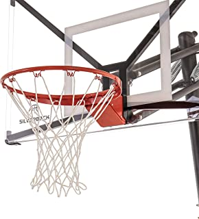Silverback 豪华分离轮辋与尼龙网兼容 NXT 和 Goaliath GoTek 地面和壁挂式篮球篮