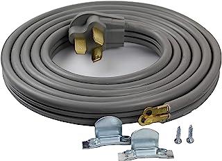 供应需求 3 线范围烤箱线 50-AMP 250 伏 8 AWG 电线,兼容 GE、Whirlpool 惠而浦、LG、三星、Frigidaire 黑色 10 Foot SDRC-3W-50A