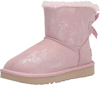 UGG 女式 Mini Bailey Bow Ii Shimmer 及踝靴